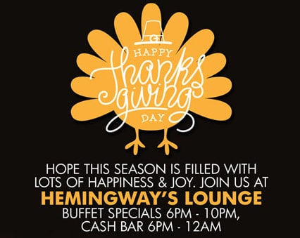 Happy Thanksgiving Day - Hemingway's Lounge